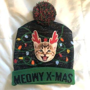 OS   Christmas Light Up Winter Hat